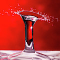 Red Column Water Drop Collision by SR Green