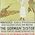 Red Cross Or Iron Cross, World War I Propaganda Poster by David Wilson