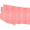 Red Dot Map Of Arizona by Bigalbaloo Stock