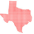 Red Dot Map Of Texas by Bigalbaloo Stock