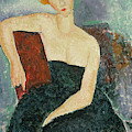 Red Headed Girl In Evening Dress, 1918  by Amedeo Modigliani