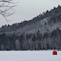 Red Ice Fishing Shack by John Meader