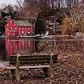 Red Mill Reflection Clinton New Jersey by Terry DeLuco