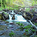 Red Rock Falls, Glacier National Park, Montana by Kay Brewer