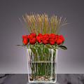 Red Roses In Vase by David Arrigoni