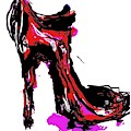 Red Shoe With High Heel by Angie Stimson