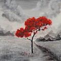 Red Tree by Manar Hawsawi