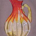 Red Vase by Elizabeth Beach