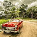 Red Vintage Car by Top Wallpapers