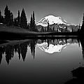 Reflection Of Mount Rainer In Calm Lake by Bill Hinton Photography