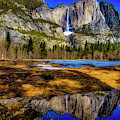 Reflection Of Upper Falls by Garry Gay