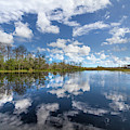 Reflections Of Blue And White by Debra and Dave Vanderlaan