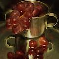 Reflections Of Grapes by Pamela Walton