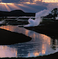 Reflections On The Firehole River by Sandra Bronstein