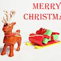 Reindeer Sleigh - Merry Christmas II by Helen Northcott