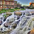 Relentless Reedy River Falls Park Greenville South Carolina Art by Reid Callaway