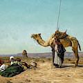 Rest In The Syrian Desert, 19th Century by Eugen Bracht