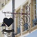 Restaurant Winstub Sign Strasbourg by Teresa Mucha