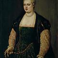 Retrato De Mujer   by Tiziano  Vecellio di Gregorio  y taller