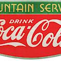 Retro Coke Sign by Greg Joens
