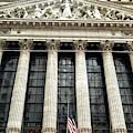 Retro New York Stock Exchange In New York City by John Rizzuto