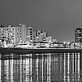 Revere Beach Reflection Ocean Ave Black And White by Toby McGuire