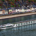 Rhine River Cruise Ship by Anthony Dezenzio