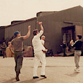 Richard Gere - Playing Baseball On Set Of Yanks by Doc Braham