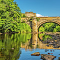 Richmond Castle And The River Swale by David Ross
