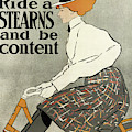 Ride A Stearns And Be Content, Circa 1896 by Edward Penfield