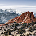 Right Panel 3 Of 3 - Pikes Peak Panoramic Mountain Landscape With Garden Of The Gods by Gregory Ballos