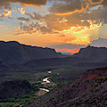 Rio Grande Sunset At Big Hill  by Harriet Feagin