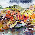 Riomaggiore Cinque Terre Italy by Ginette Callaway