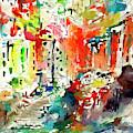 Riomaggiore Impressions Cinque Terre Italy  by Ginette Callaway