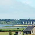 river and bridge towards Berwick upon Tweed scotland by Victor Lord Denovan