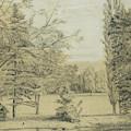 River And Park Landscape by Henri Rousseau