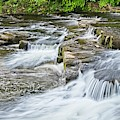 River Swale Waterfalls At Richmond, Yorkshire by Martyn Arnold