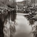 River To Crystal Bridges Museum Of American Art - Bentonville Arkansas Sepia by Gregory Ballos