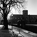 riverside walk in Haddington on winters morning by Victor Lord Denovan