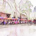 Riverwalk In Pastel by Kathy McCabe