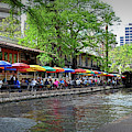Riverwalk Umbrellas by Kathy McCabe