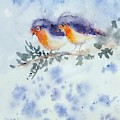 Robin Couple by Asha Sudhaker Shenoy