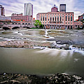 Rochester Ny Court Street Bridge Flowing Water by Toby McGuire