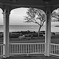 Rockport Ma Back Beach From Bandstand At Sunset Rockport Ma Black And White by Toby McGuire