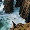 Rocks And Surf by Robert Potts