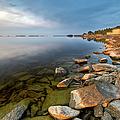 Rocks On Shore Line by David Olsson