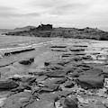 Rocky Beach Black And White by Jeremy Guerin