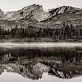 Rocky Mountain And Sprague Lake Landscape Panorama - Colorado Sepia by Gregory Ballos