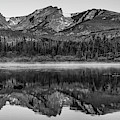 Rocky Mountain National Park Monochrome Morning Panorama by Gregory Ballos