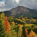 Rolling Clouds Above Red Mountain And Fall Colors by Ray Mathis